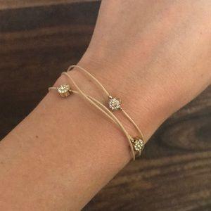 Lauren Conrad 3 strand flower bracelet